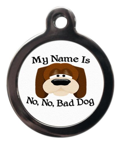 Pet ID Tag  My name is No No Bad Dog